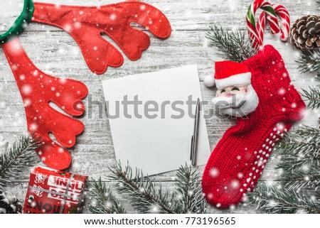 christmas motivational theme notepad pen space stock photo edit now