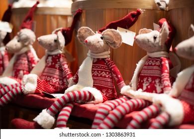 Christmas mouse ragdoll toys handmade