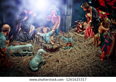 A Christmas nativity scene