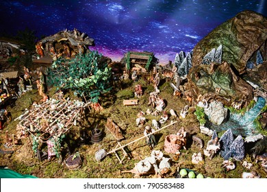 Christmas nativity scene: the country landscape