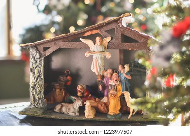 Christmas nativity set.