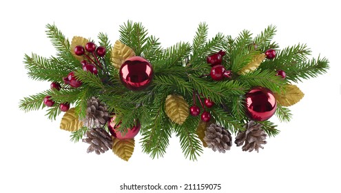 Christmas and new year decoration element for any kind of design