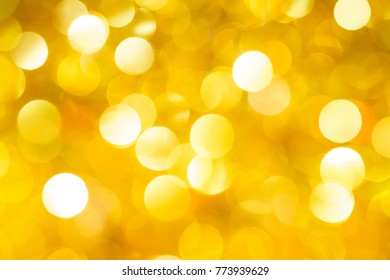Christmas and New Year golden blurred defocused bokeh background