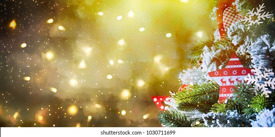 Christmas and New Year holiday background