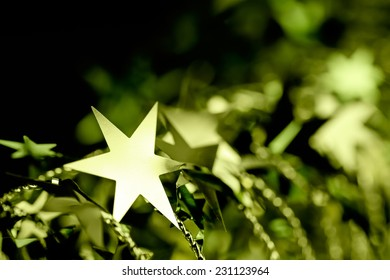 Christmas or New Year holiday ornament with stars