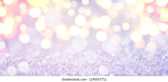 Christmas and New Year holidays background, glitter vintage lights background. defocused.