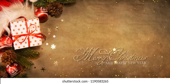 Christmas and New Year holidays background