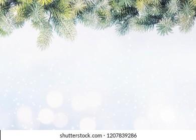 Christmas and New Year holidays background, winter season. Christmas greeting card