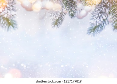 Christmas and New Year holidays background, winter season. Christmas greeting card