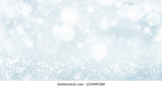 Christmas and New Year holidays background . Blurred glitter Bokeh