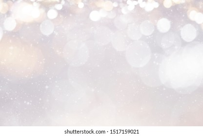 Christmas and New Year holidays background. Blurred bokeh background