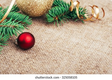 Christmas New Year rustic decoration