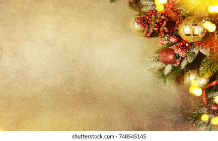 christmas and new year s holiday background with copy space christmas border