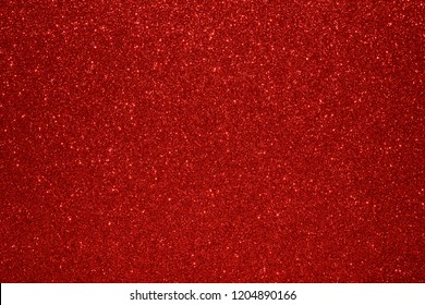 Christmas New Year Valentine Day Red Glitter background. Holiday abstract texture fabric. Element, flash.
