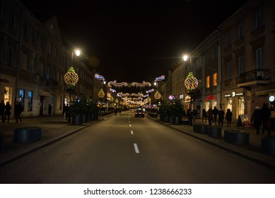 Christmas and New Year in Warsaw, Poland December 20, 2017