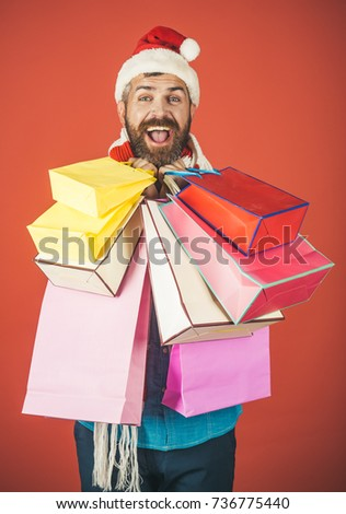 d69c28cc586d1 Christmas New Year Xmas Presents Man Stock Photo (Edit Now ...