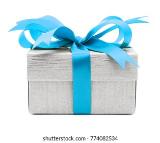 Christmas and New Year's Day , blue sky gift box white background