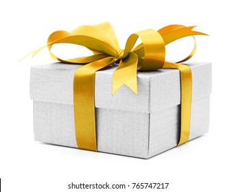 Christmas and New Year's Day , yellow white gift box white background