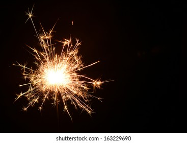 Christmas and newyear party sparkler on black