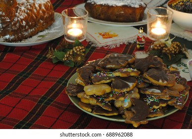 Christmas night. Gingerbread Cookie