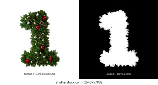 Christmas number 1. Christmas typography.