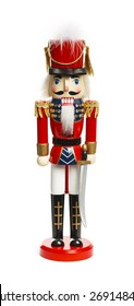 Christmas Nut Cracker Solider Isolated on White Background.