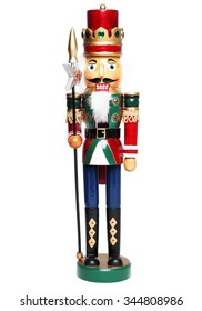 Christmas nutcracker king isolated on white backround