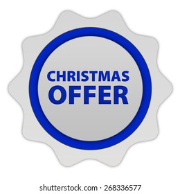 Christmas offer circular icon on white background
