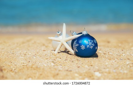Christmas on the beach. Travels. Selective focus nature