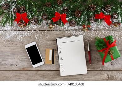 christmas wish list writing woman creating stock photo edit now