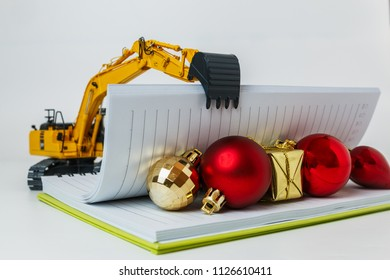 Personalized construction bulldozer tractor christmas ornament