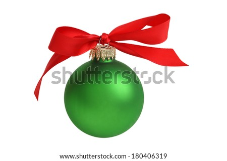 Christmas Ornament Bow Cutout Isolated On Stock Photo Edit Now