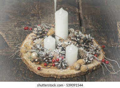 Christmas ornament decoration with candles
