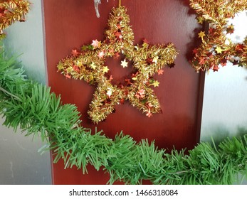 Christmas ornament decoration on a wall
