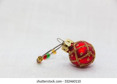 Christmas ornament glass of wine charm