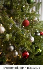 Christmas ornament hung on a Christmas tree