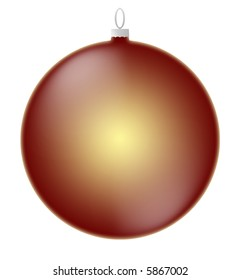 Christmas Ornament illustration isolated on white background for easy selection