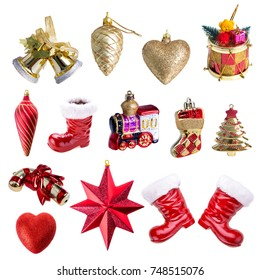 Christmas ornament, isolated on white background