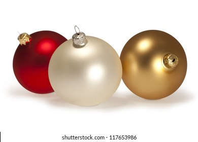 Christmas Ornament/Christmas Ornaments on white with path