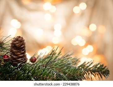 Christmas ornaments with blurred background