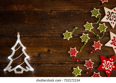 Christmas ornaments, gifts background