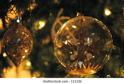 Christmas Ornaments Glowing