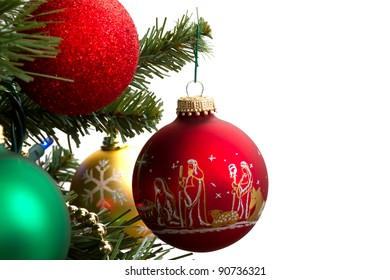 christmas ornaments isolated