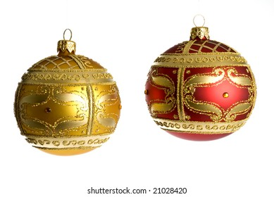 Christmas Ornaments Isolated on White
