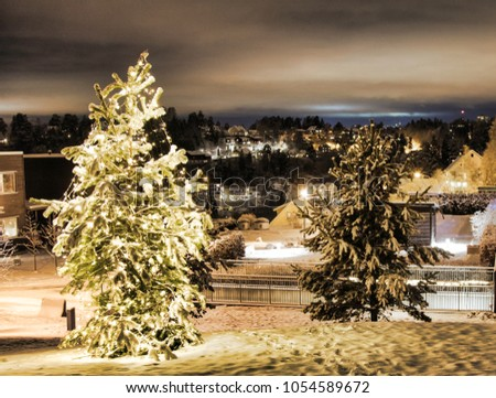 Christmas oslo snow christmas lights all stock photo edit now
