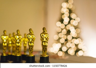 Christmas party award trophy ceremony event.