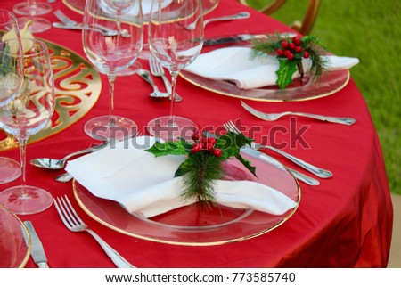 Christmas Party Decoration Stock Photo Edit Now 773585740
