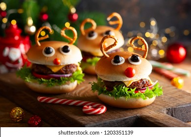 Christmas party idea: Kids Christmas burger Reindeer Sloppy Joe