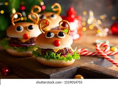 Idée de fête de Noël: Burger de Noël des enfants Reindeer Sloppy Joe