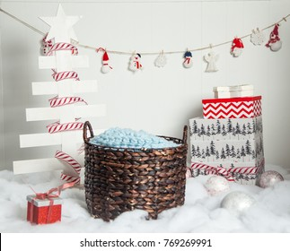 Christmas photo setting for baby